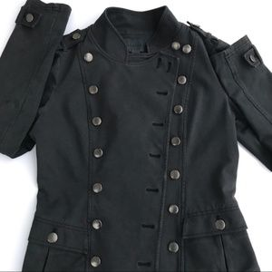 Anthropologie anthracite Miltary Jacket size S